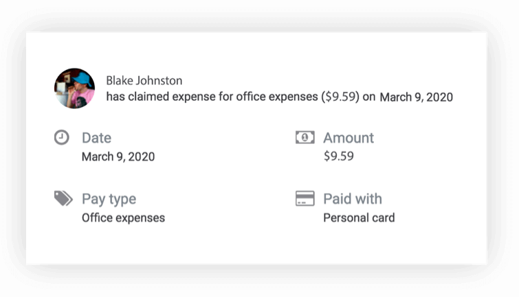 illustration of turning receipts into expense entries