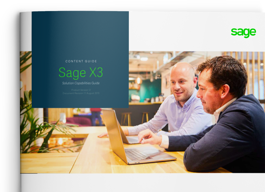 Sage X3 capabilities guide cover