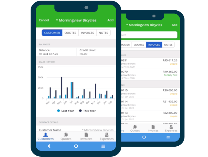 accounting application on a mobile