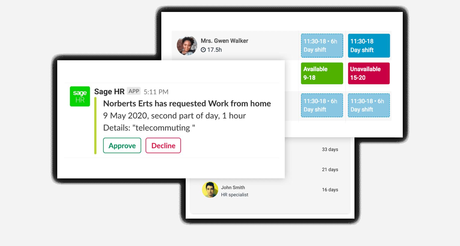 Sage HR screenshot