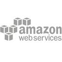 Logotipo de Amazon Web Services con cajas de color negro